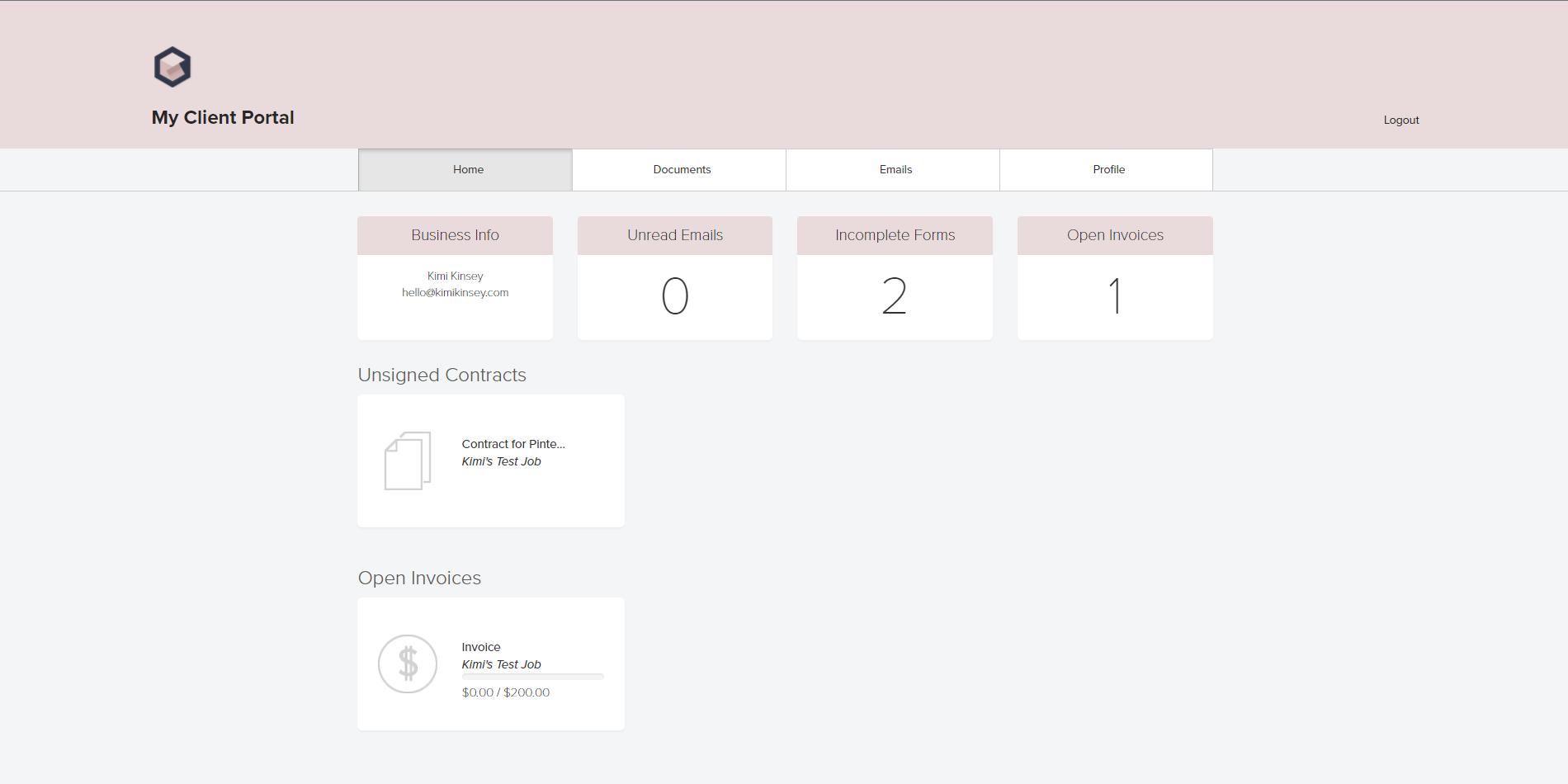 Dubsado Client Portal