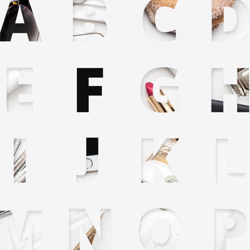 Instagram Overlays - Alphabet Arranged