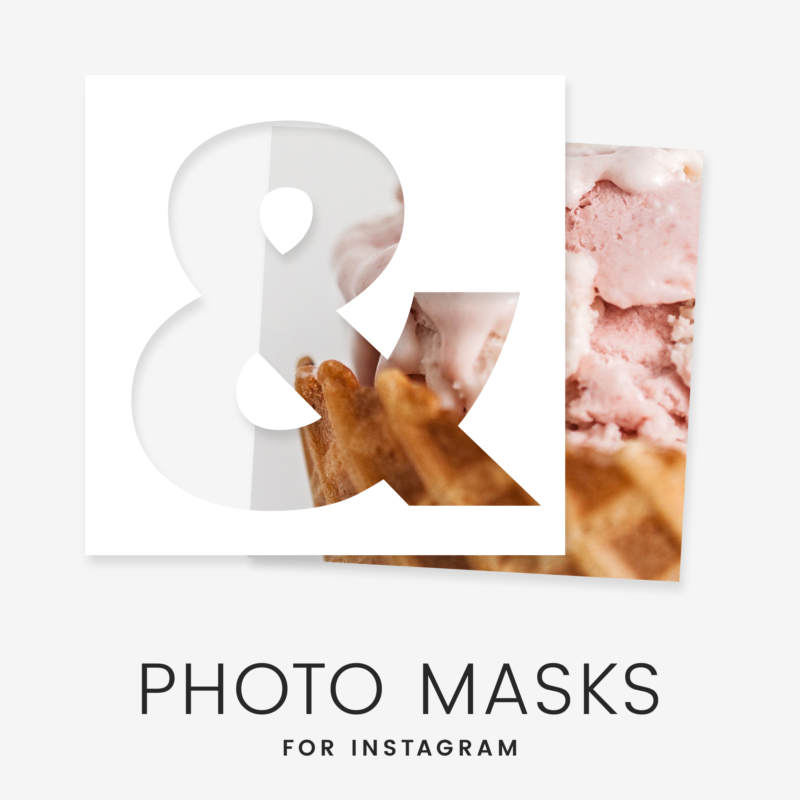 Instagram Overlays - Trendy Shapes Mask Example