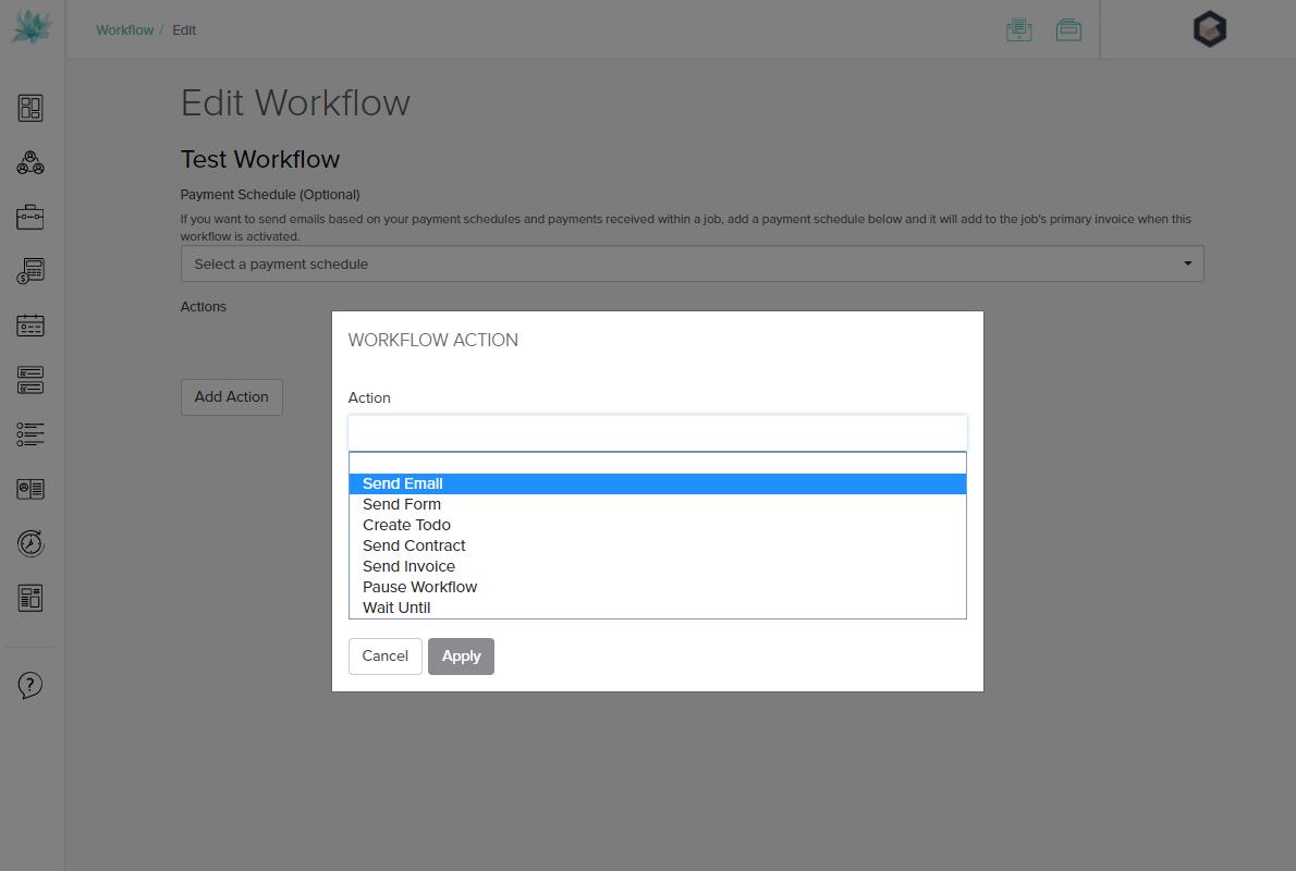 Dubsado Workflow Actions
