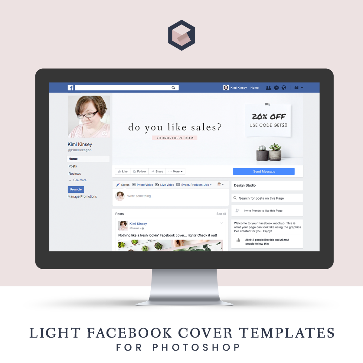 Light Facebook Cover Templates • Kimi Kinsey