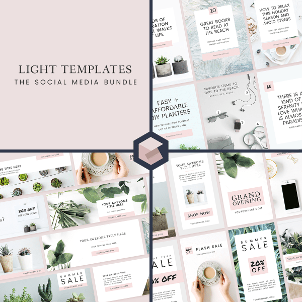 Light Templates Social media Bundle