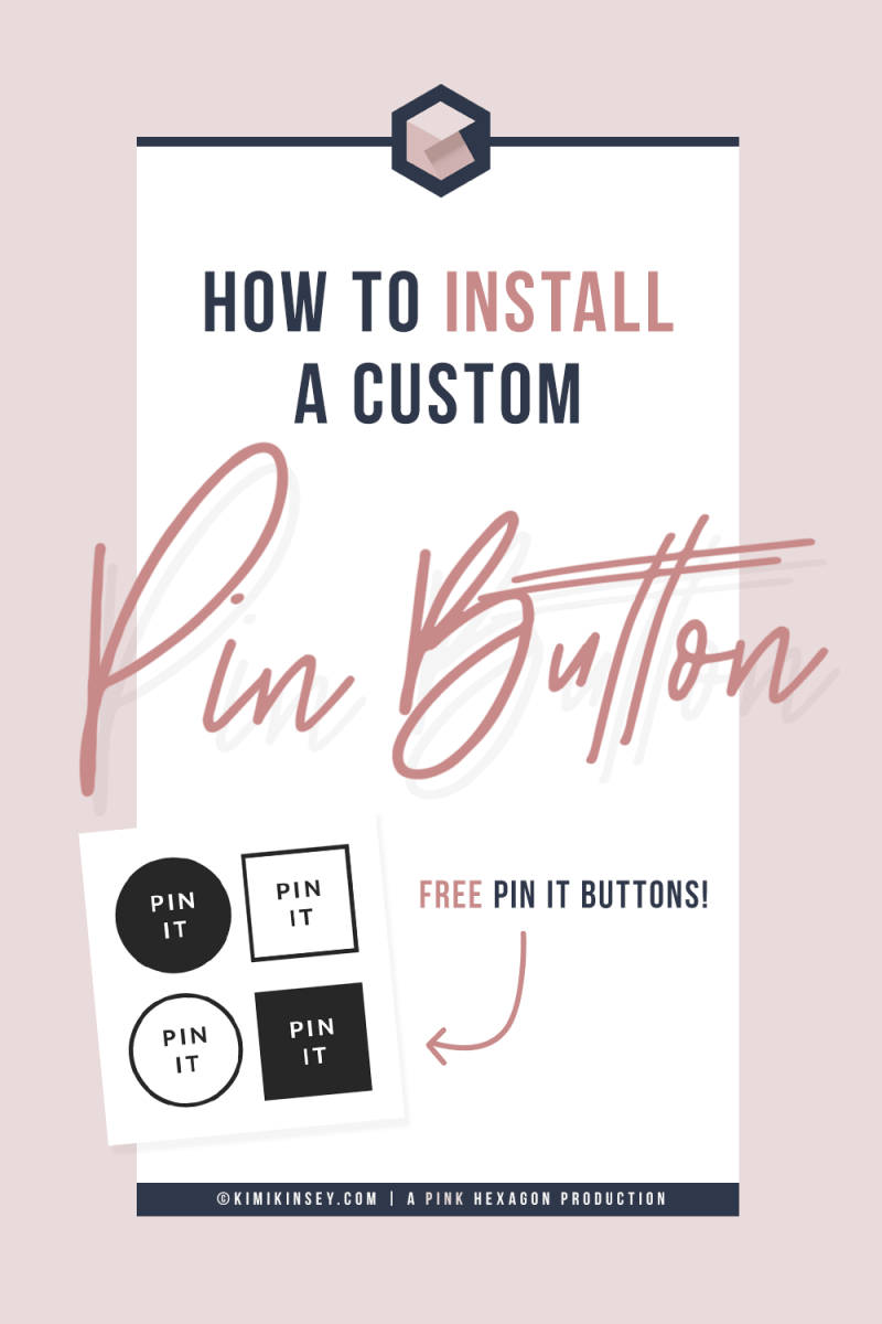How to install a custom pin it button in WordPress to make it easier for your audience to share your content and grow your following. Set up a #custom #pinitbutton on #WordPress with ease thanks to this #stepbystep #tutorial - including a #freedownload of buttons for you to use. #blogging #tutorials #contentmarketing
