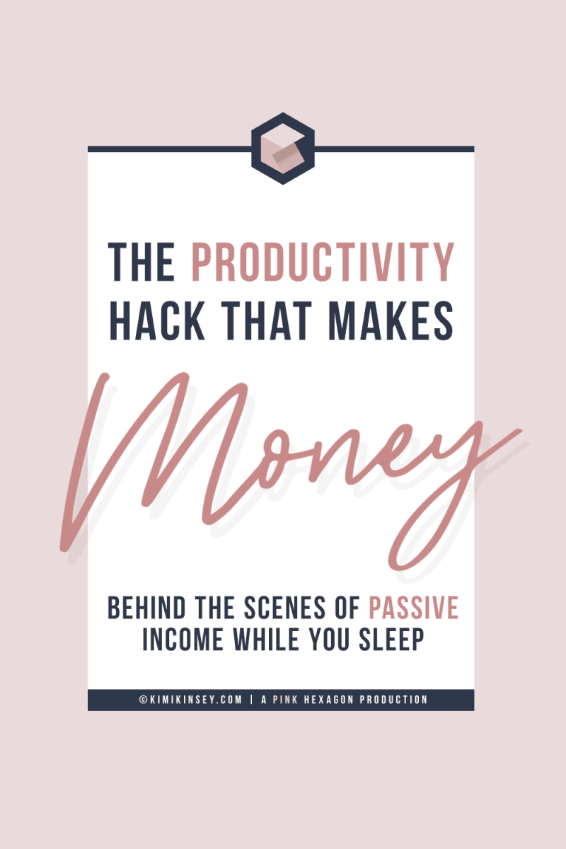 How to make passive income while you sleep. Learn the productivity hack that helped me create streams of passive income so that I could make money on autopilot. Go behind the scenes of how to create passive income using blog posts and opt ins you already have. #productivityhack #passiveincome  #makemoneyonline #onlinebusiness #affiliatemarketing #contentmarketing  #howtomakepassiveincome #passiveincomeideas #passiveincomestreams #howtoselldigitalproducts #digitalproducts #onlinebusinesstips