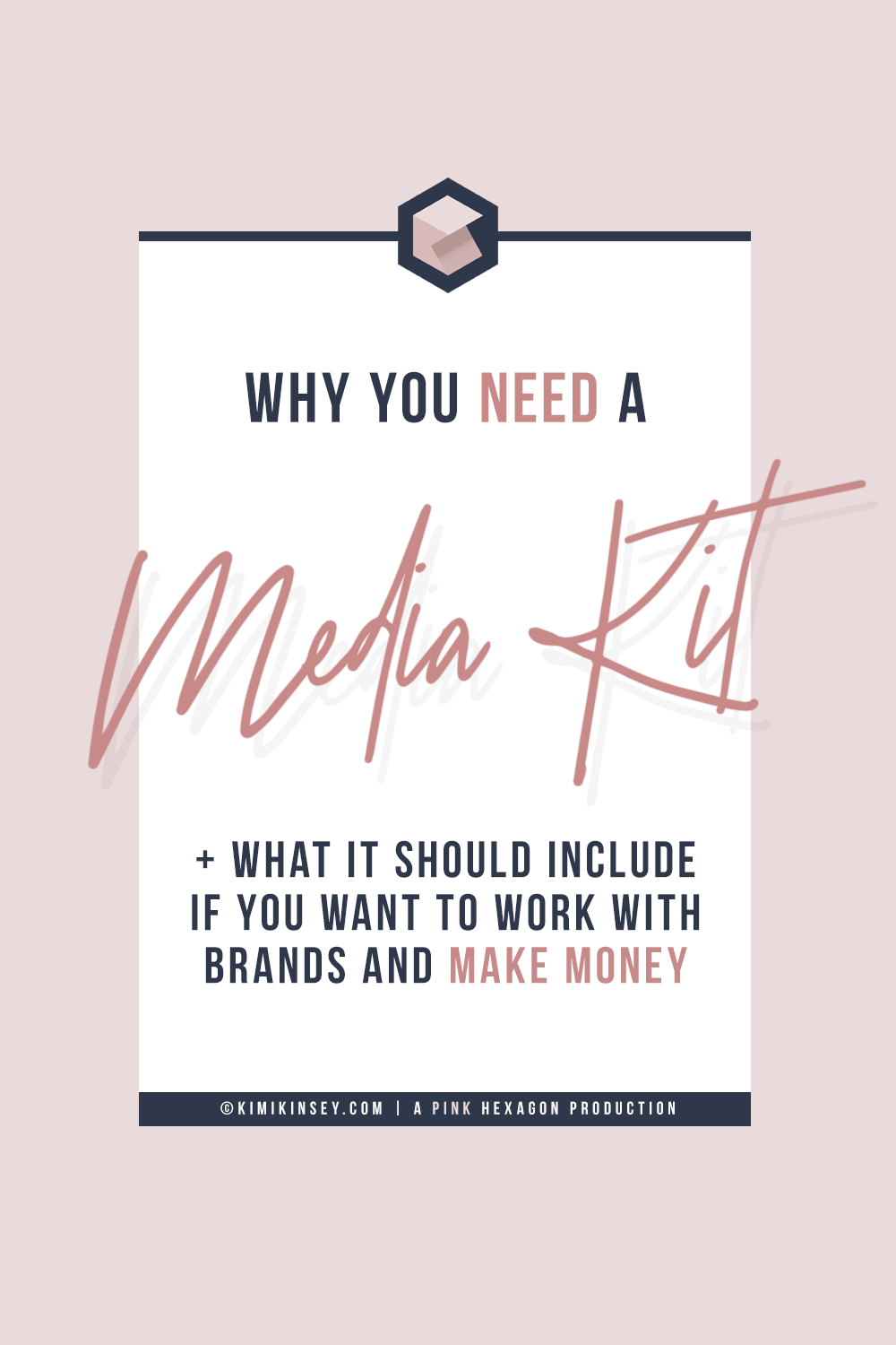 What is a media kit and why would you need one?If you want to work with brands and make money writing sponsored posts, you'll need a media kit that tells them about you and your blog. Find out how to make a media kit and what it should include. #brandpartnerships #bloggingtips #sponsorships #mediakit