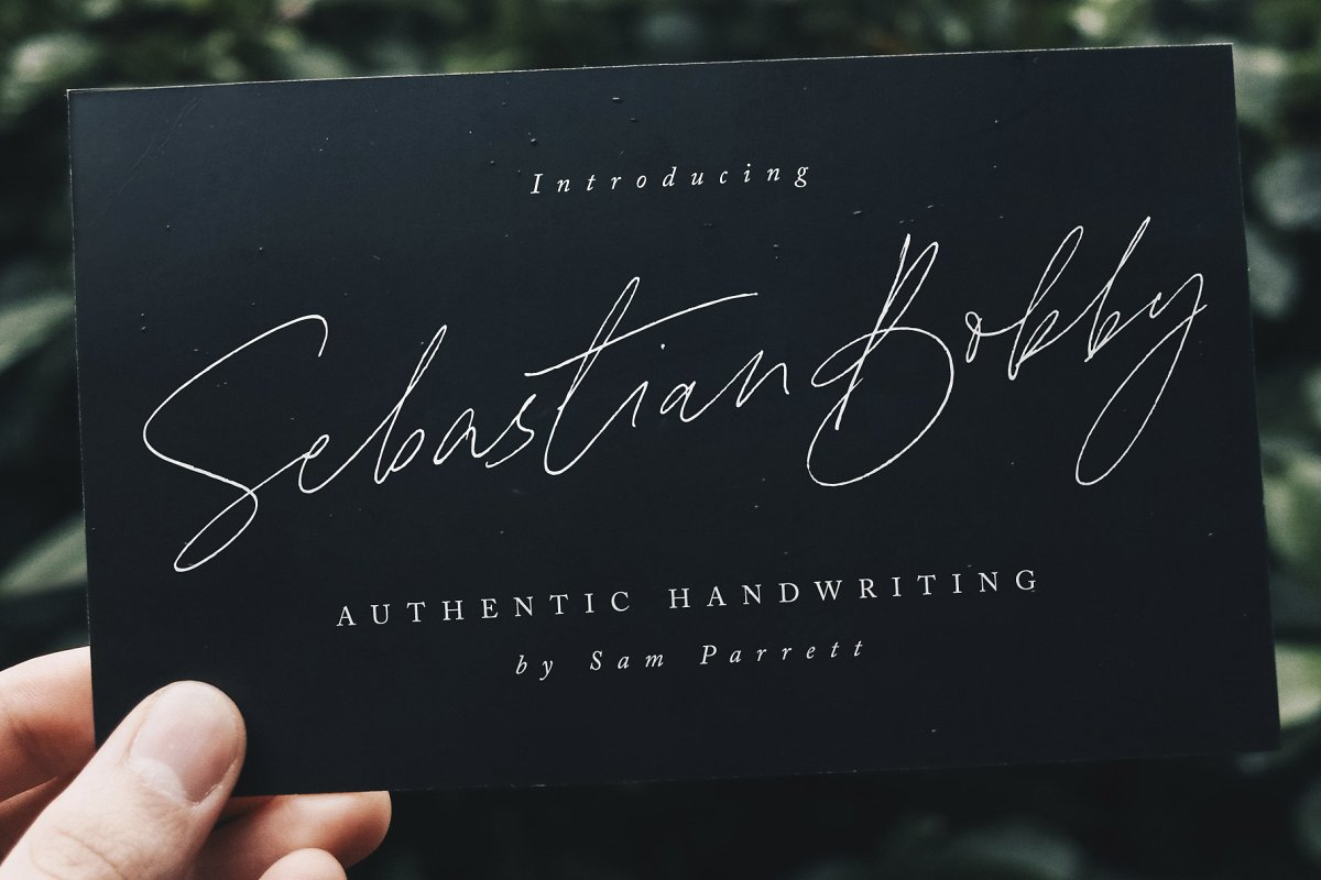 Sebastian Bobby signature font by Set Sail Studios
