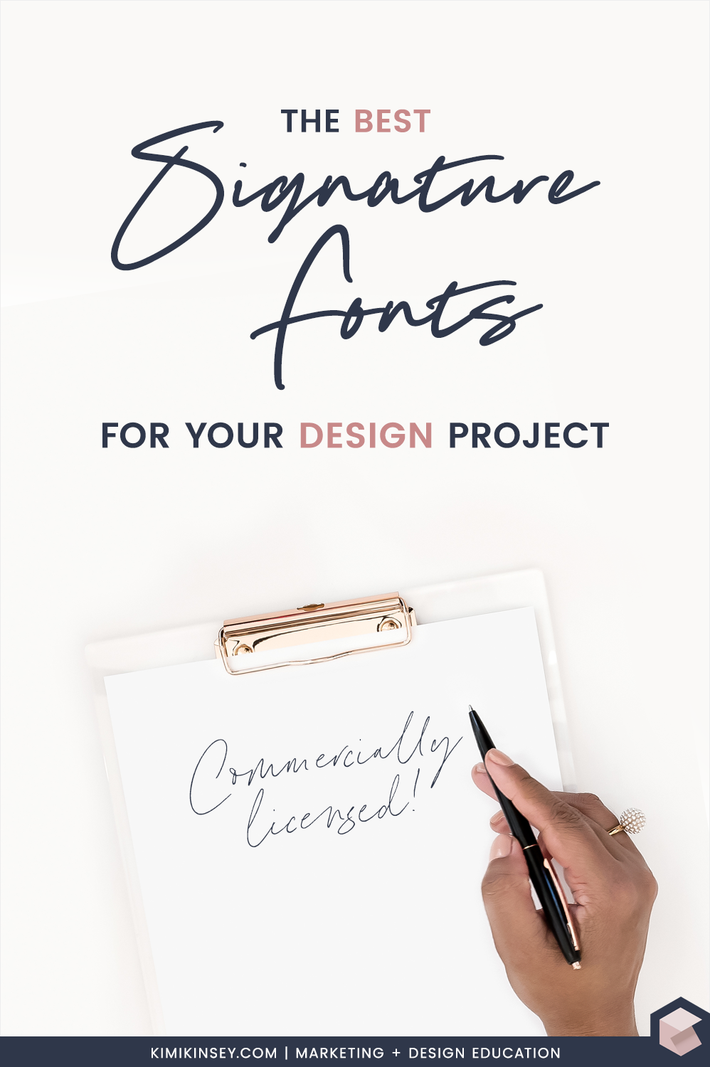 The best Signature Fonts for your next Design Project
