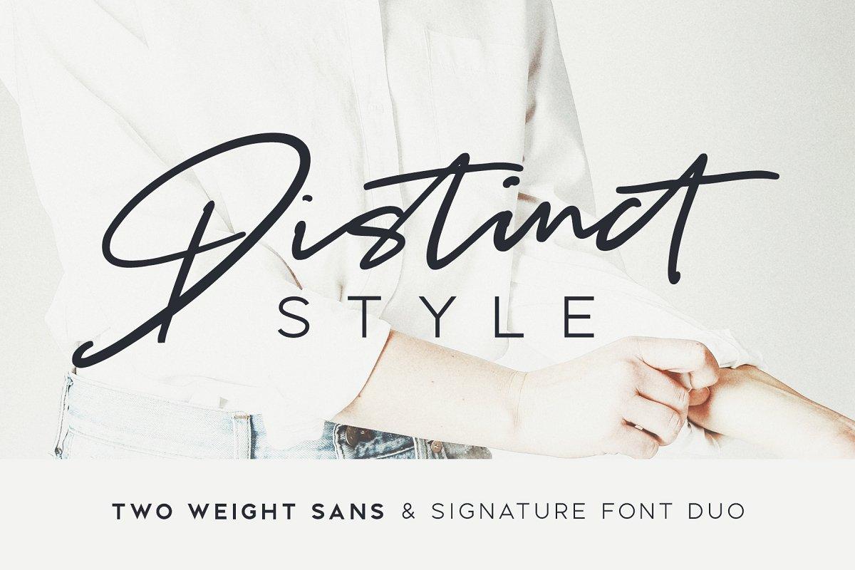 Distinct Style signature font by Set Sail Studios